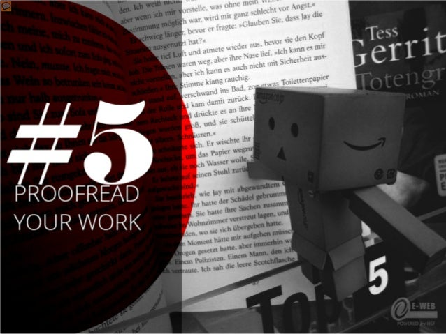 #5 – Proofread your work