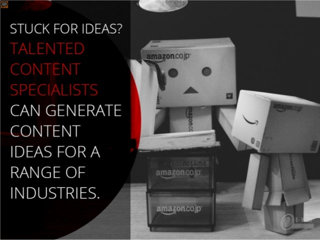 Stuck for ideas? Talented content specialists can generate content ideas for a range of industries.
