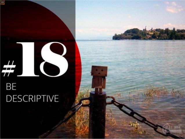 #18 – Use descriptive anchor text on links