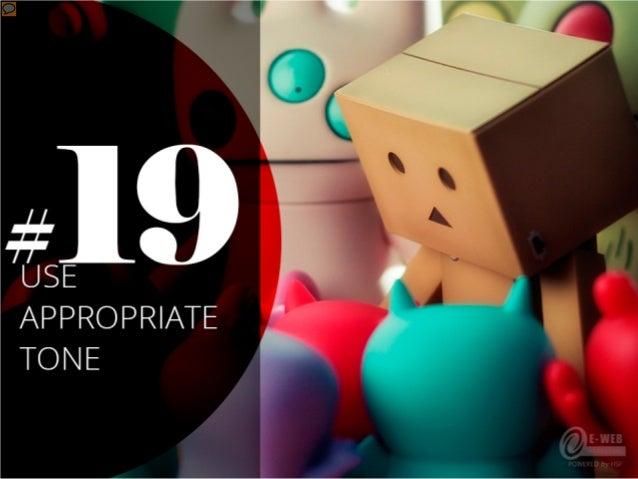 #19 – Use appropriate tone