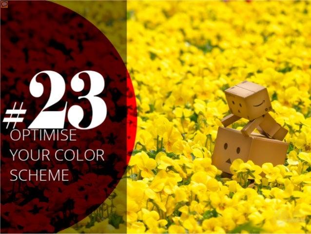 #23 – Optimise your color scheme