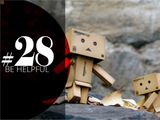 #28 – Be Helpful