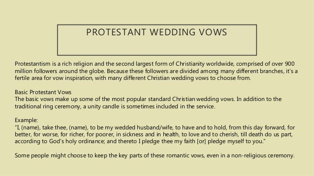 Traditional Christian Wedding Vows.33 Traditional Wedding Vows To Inspire You