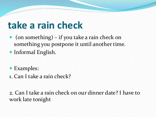 dating rain check