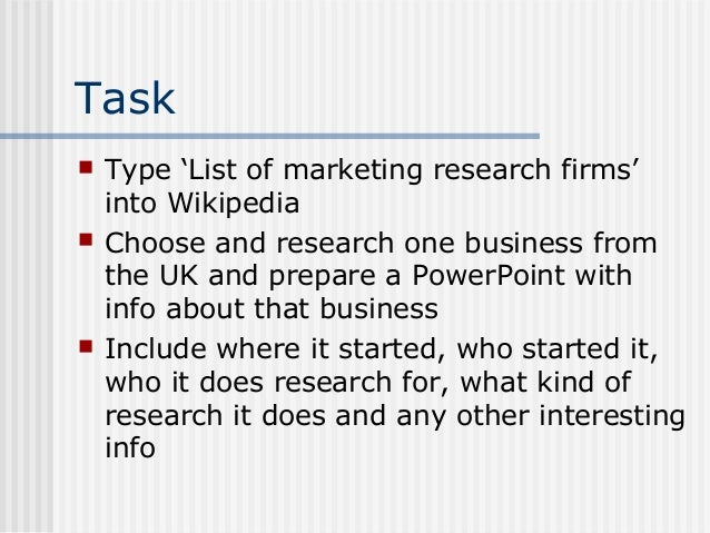 34 Market Research