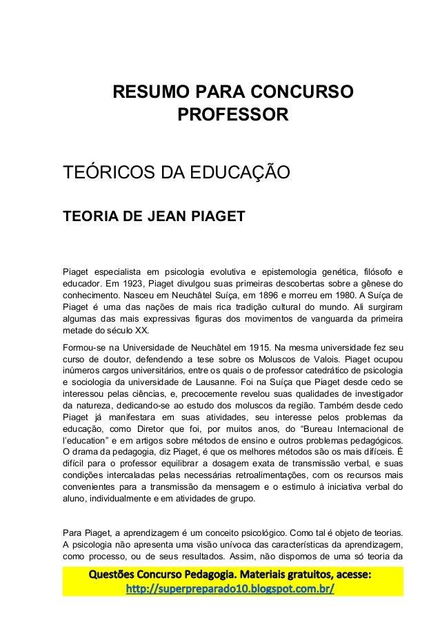 bf149f13ee8 34.resumo para concurso professor jean piaget.docx