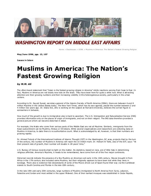 most growing religion in world