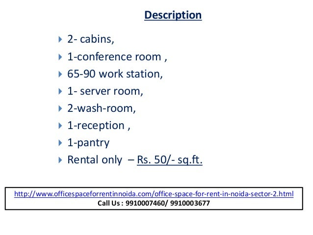 3400 sq ft  furnished office (9910007460) space in sector 2