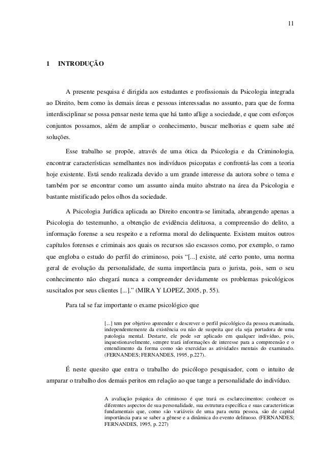 MENTES PERIGOSAS: O PERFIL PSICOLÓGICO DO PSICOPATA
