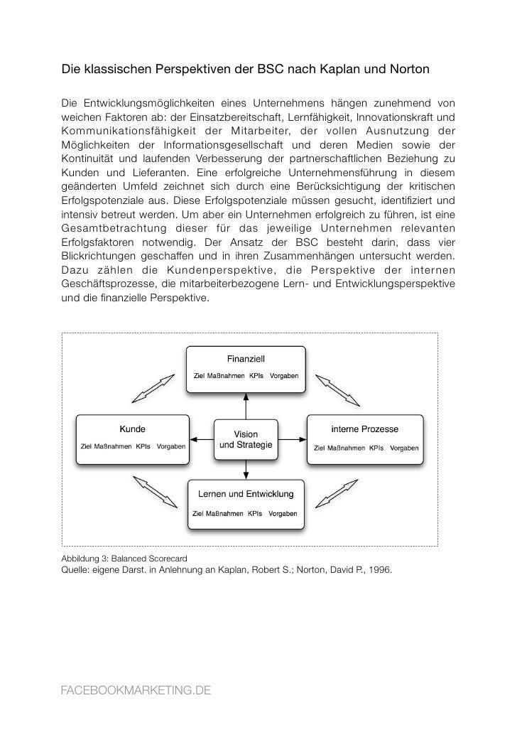 Die klassischen Perspektiven der BSC nach Kaplan und Norton  Die Entwicklungsmöglichkeiten eines Unternehmens hängen zuneh...