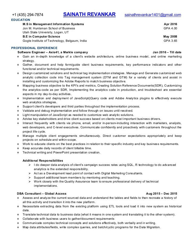 Talend Developer Sample Resume 481273 Working With Web Services And