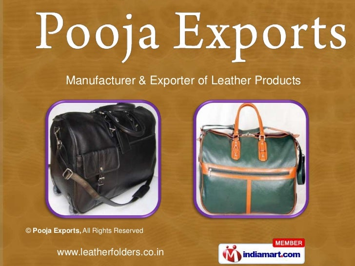 Manufacturer & Exporter of Leather Products<br />