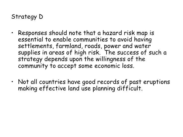 Comparing volcano hazard responses