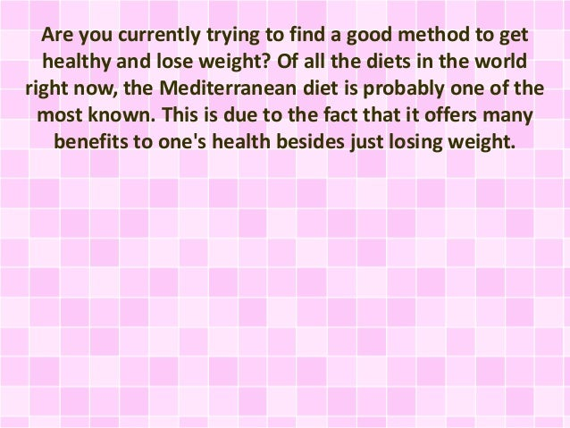 The Mediterranean Healthy Eating Tlan The Most Delicious And Healthi
