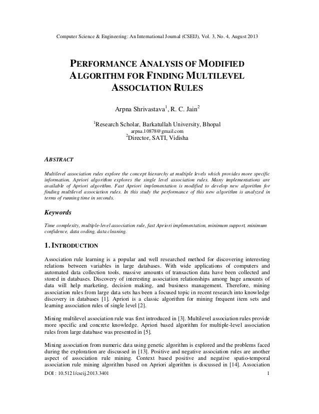 Computer Science & Engineering: An International Journal (CSEIJ), Vol. 3, No. 4, August 2013 DOI : 10.5121/cseij.2013.3401...