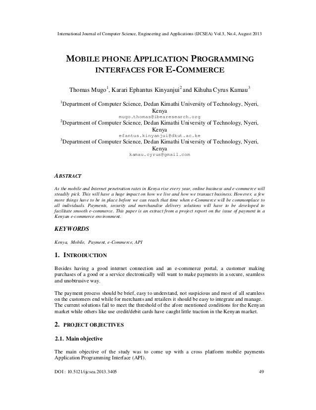 International Journal of Computer Science, Engineering and Applications (IJCSEA) Vol.3, No.4, August 2013 DOI : 10.5121/ij...