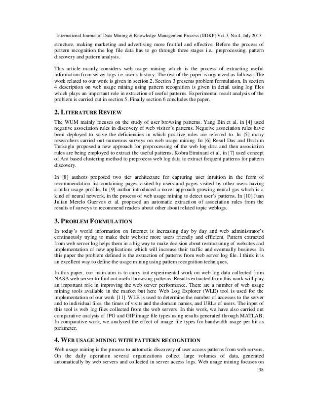 International Journal of Data Mining & Knowledge Management Process (IJDKP) Vol.3, No.4, July 2013 138 structure, making m...