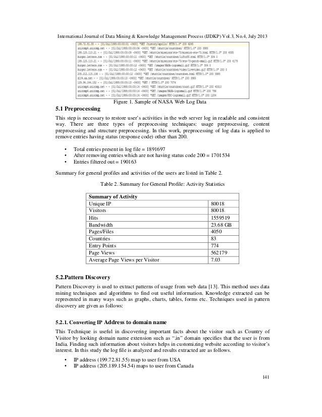 International Journal of Data Mining & Knowledge Management Process (IJDKP) Vol.3, No.4, July 2013 141 Figure 1. Sample of...
