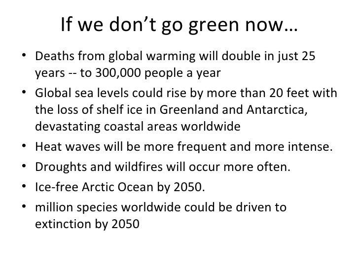 go green essay