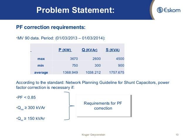 Power Factor Correction Of Toitskraal 11kv Feeder