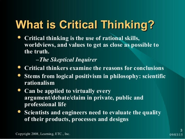 worldview and critical thinking