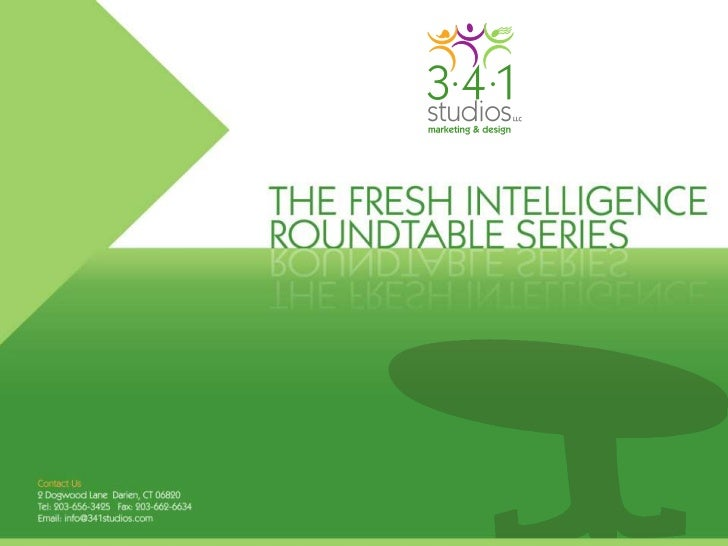 THE FRESH INTELLIGENCE                                         ROUNDTABLE SERIES          Social Media for the Non-Profit ...