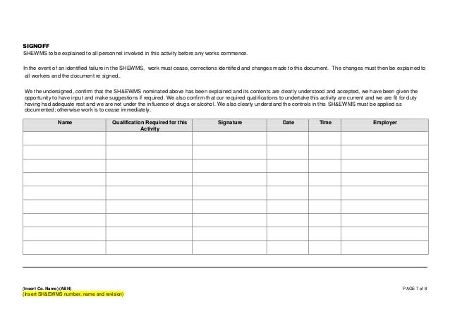 Health And Safety Method Statement Template  OloschurchtpCom