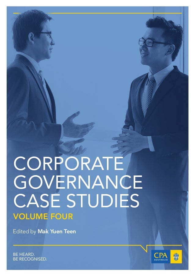 corporate governance case studies with solutions