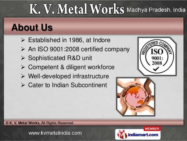 Material Handling Equipment & Plant Services by K. V. Metal Works, Indore Slide 2