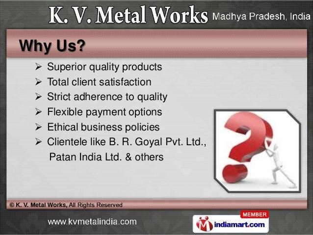Material Handling Equipment & Plant Services by K. V. Metal Works, Indore Slide 3