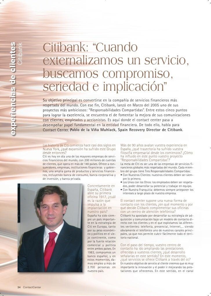 """experiencias de clientes                                              Citibank: """"Cuando                        Citibank   ..."""