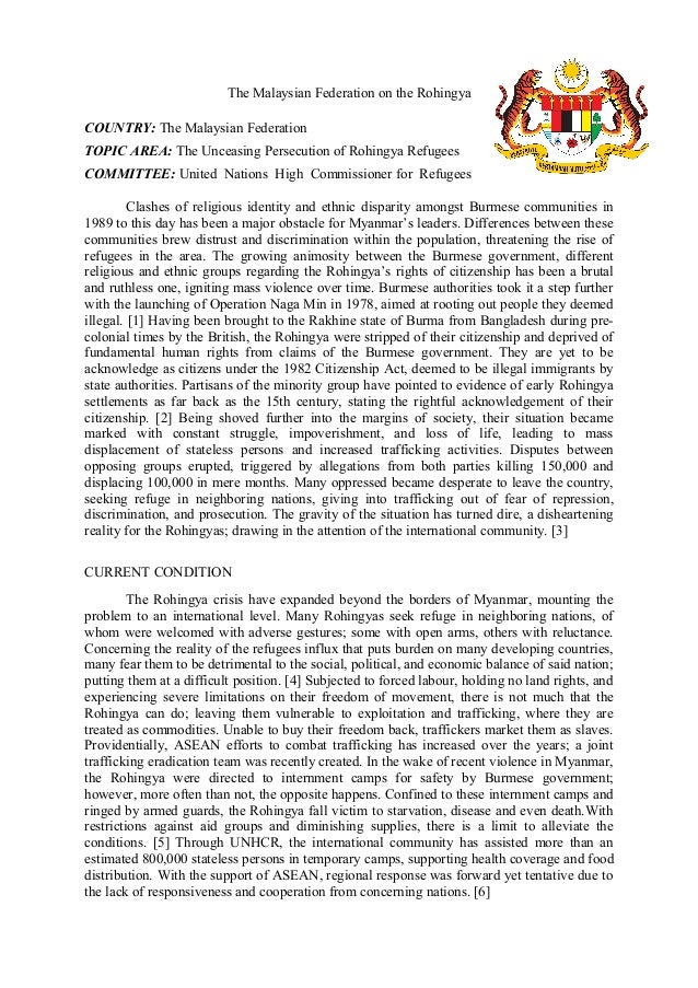 mun position paper sample