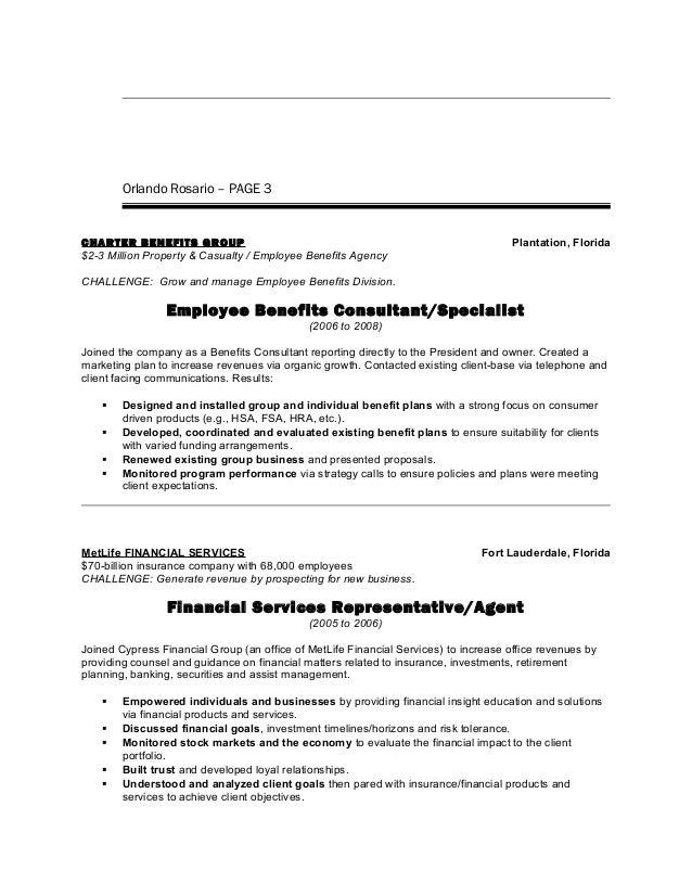 charter communications employment benefits Orlando Rosario - Resume