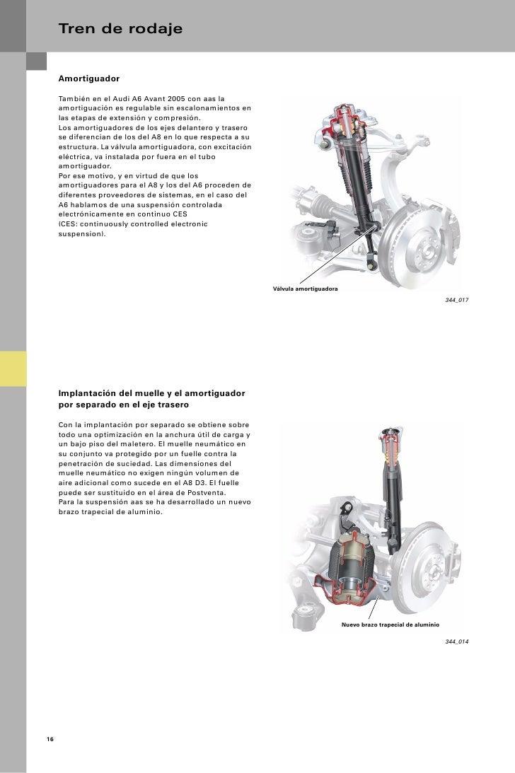 Tren de rodaje     Amortiguador     También en el Audi A6 Avant 2005 con aas la     amortiguación es regulable sin escalon...
