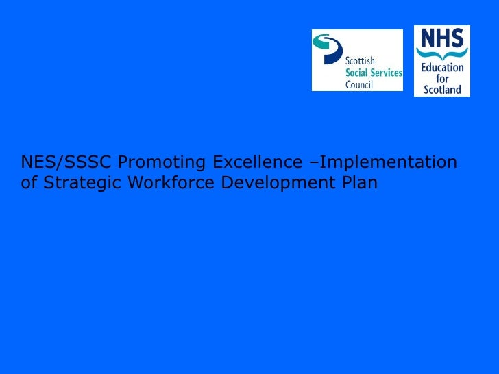 NES/SSSC Promoting Excellence –Implementationof Strategic Workforce Development Plan