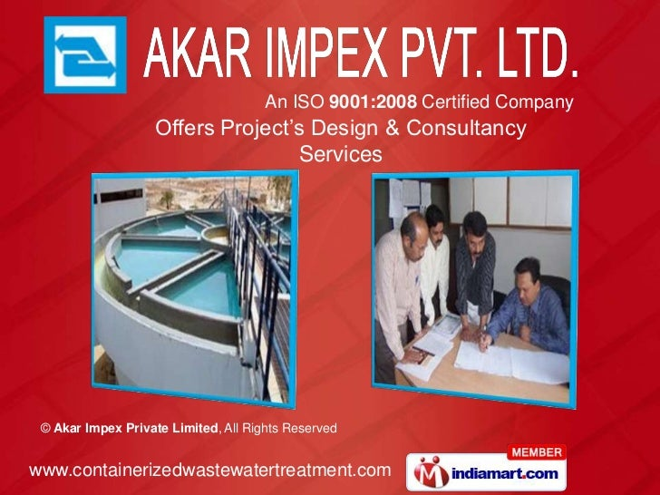An ISO 9001:2008 Certified Company                   Offers Project's Design & Consultancy                                ...