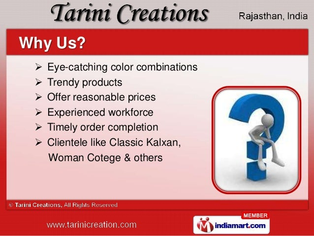 Apparels & Home Accessories by Tarini Creations, Jaipur  Slide 3