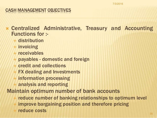 Cash Collections Receivables and Investments  Finance