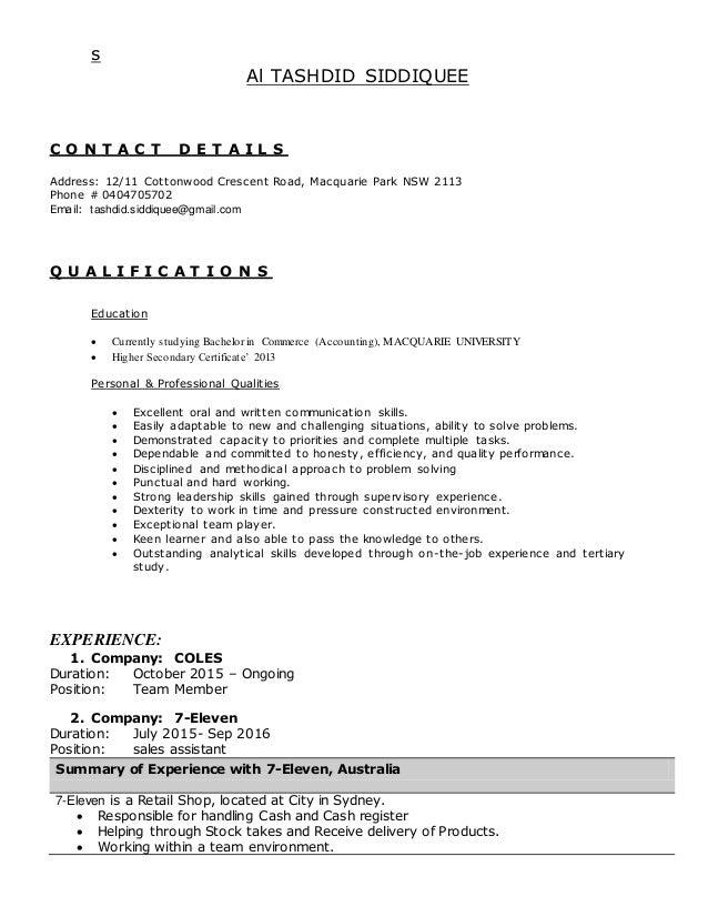Tashdid Resume
