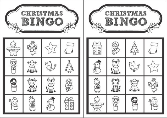 graphic about Christmas Bingo Printable named Xmas Bingo Playing cards Black And White Xmas Playing cards
