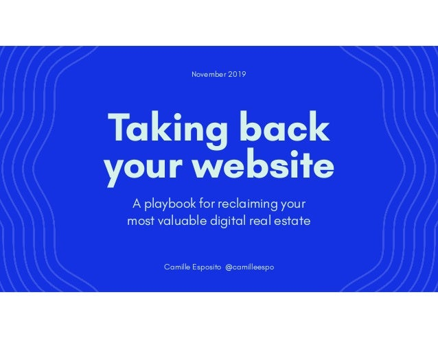 A playbook for reclaiming your