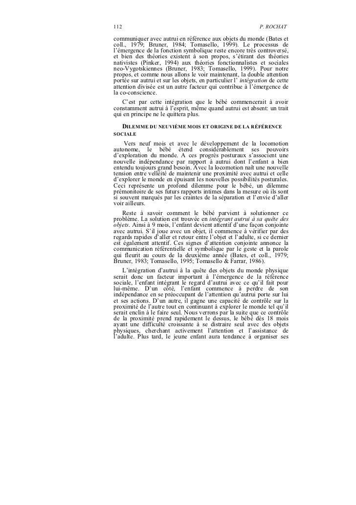 112                                                           P. ROCHATcommuniquer avec autrui en référence aux objets du ...