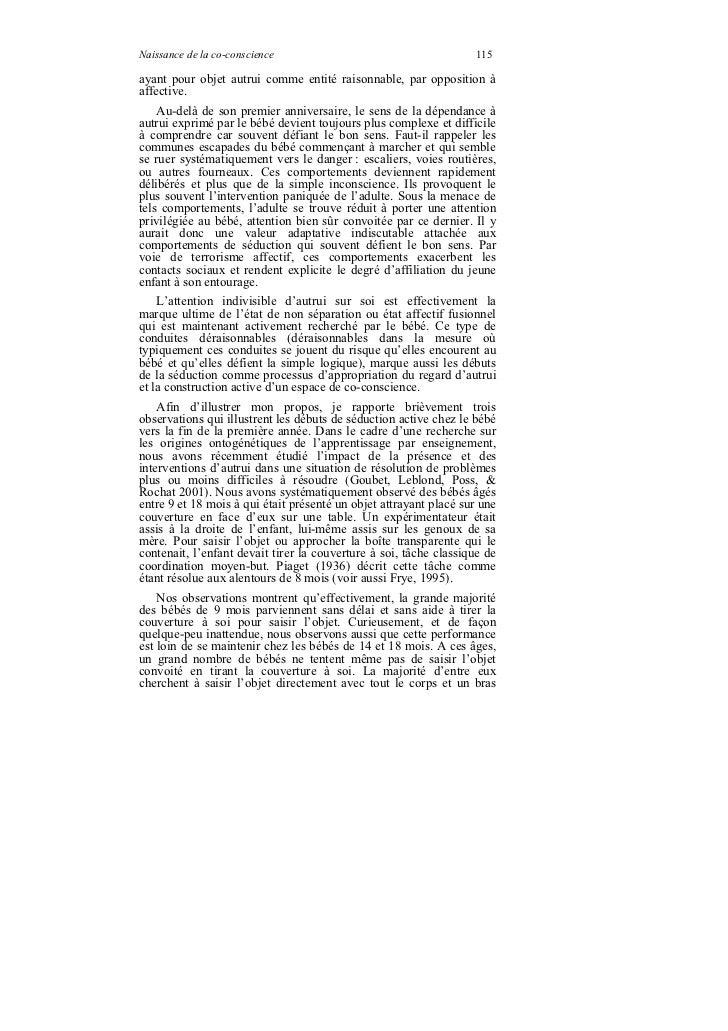 Naissance de la co-conscience                                      115ayant pour objet autrui comme entité raisonnable, pa...