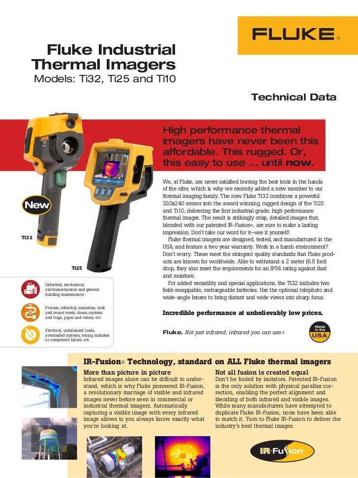 Fluke Industrial   Thermal Imagers       Models: Ti32, Ti25 and Ti10                                                      ...