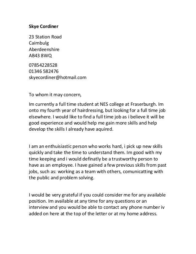 skye cordiner cover letter