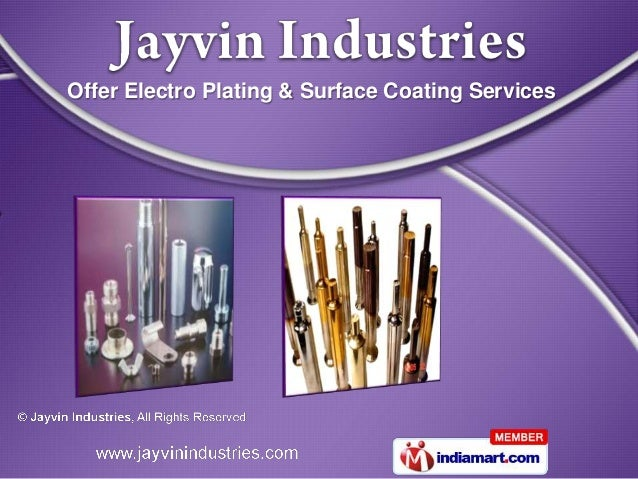 Offer Electro Plating & Surface Coating Services