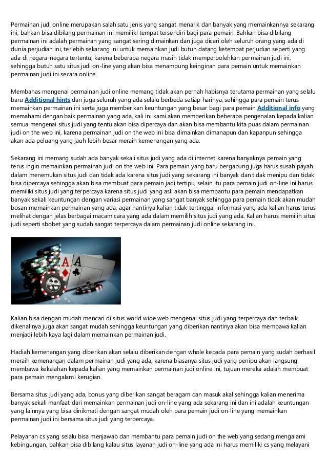 10 Hebat Situs Judi Bola Resmi Indonesia Pembicara Publik