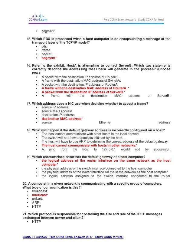 ccna 1 v5 1 v6 0 chapter 3 exam answers 2017 100 full rh slideshare net CCNA Practice Test ccna 2 chapter 1 study guide answers