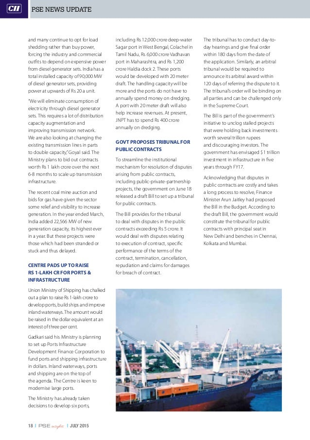 18   PSE insights   JULY 2015 and many continue to opt for load shedding rather than buy power, forcing the industry and c...