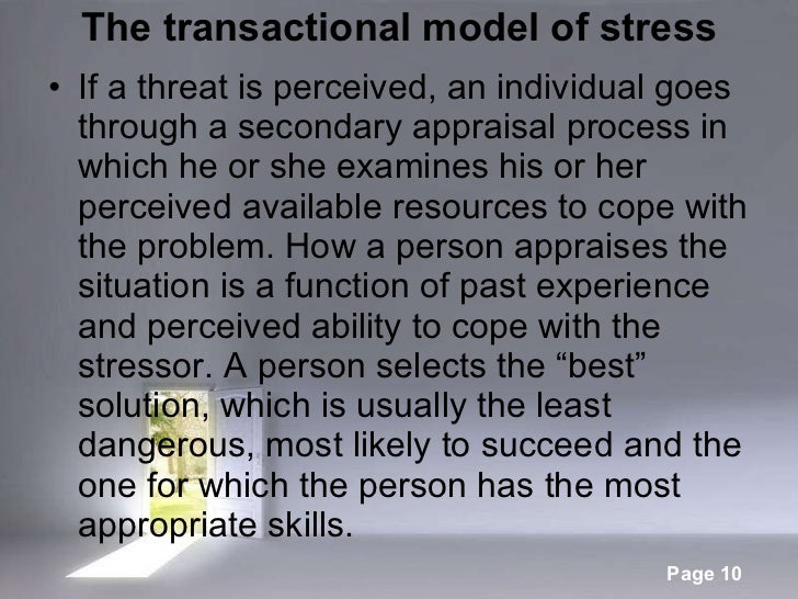 transactional model of stress This file accompanies a youtube clip - covering the transational model of stress and coping see the facebook page 'epsychvcecom' or the website www epsychvce.